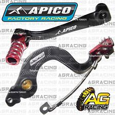 Apico Black Red Rear Brake & Gear Pedal Lever For Honda CRF 150R 2007-2016 MotoX