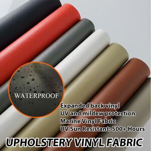 Marine PVC Vinyl Faux Leather Litchi Grain Fabric Car Interior Upholstery Sewing