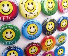 24 Personalized TFTC! Geocaching Smiley Button Badges for Geocache Swag