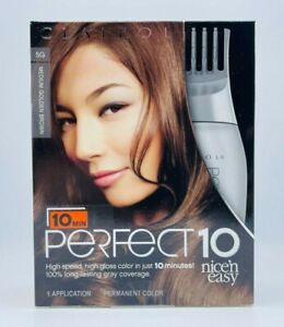 Clairol Perfect 10 MEDIUM GOLDEN BROWN 5G Nice'n Easy New Sealed Free Shipping