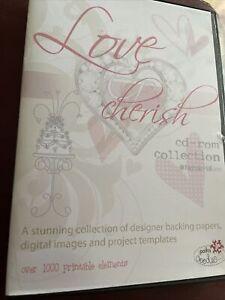 Polka Doodles Love & Cherish Paper Crafting CD Rom Weddings Anniversary Romance