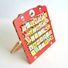 New Educational Toy 3+year kid Wooden Alphabet  Time Teaching Abacus Frame #1221