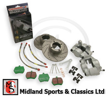BEK181UR - MG MIDGET & SPRITE - FRONT BRAKE UPGRADE KIT- STEEL WHEEL - BTB383DG