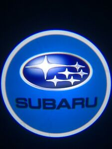 For Subaru Courtesy Door LED Logo Projector Light 2Pc Welcome Ghost Light WRX