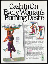 KATHY SMITH__Original 1988 Trade print AD / fitness promo__Fat Burning Workout