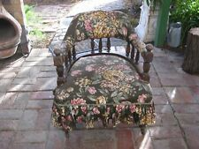 Antique Edwardian Ladies Bedroom Armchair - Tub / Spindleback Chair (Original)