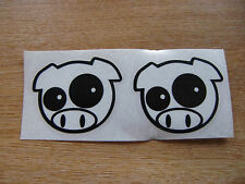 JDM pig sticker x2 - 60x50mm - decal pair 2 colour