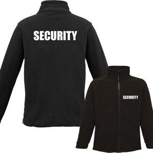 Black Security Embroidered Pro Fleece Jacket Full Zip Fleece Coat Doorman SIA