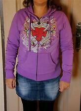 veste violette femme ED HARDY kills slowly taille S  NEUF ÉTIQUETTE  val 159€