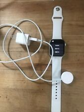 Apple Watch Series 4 44 mm Stainless Steel Case with White Sport Band (GPS +...