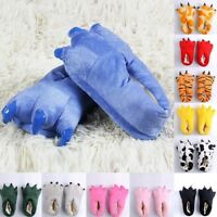 Baby Kid Adult Winter Warm Indoor Slippers Funny Animal Paw Monster Claw Shoes