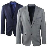 Giacca Uomo Elegante Blu Grigio Sartoriale Blazer Slim Fit Classica Cerimonia