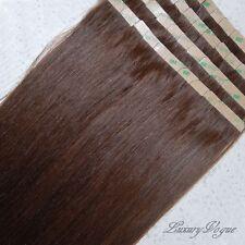 40Pcs FullHead 3M Tape-in Extensions 100% Human Hair Remy #4 (Dark/Medium Brown)