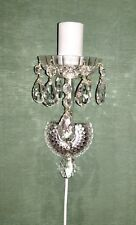 Clear  Led Crystal Candelabra, Vintage, new electric wire, Perfect condition