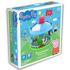 Peppa Pig Fairground Ride Game Merry-Go-Round w/ George Mummy Daddy Figurine Toy