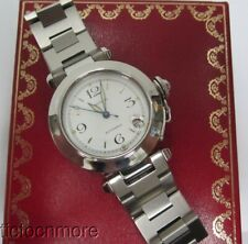 CARTIER PASHA AUTOMATIC 2324 35mm WATCH & CARTIER BOX NO RESERVE!