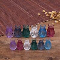 1:12 Puppenhaus Miniatur Mini transluzente Vase Möbelzubehör