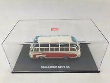 Schuco 1:43 in PC Box 02821 Bus Käsbohrer Setra S6 Limitierte Auflage beige rot
