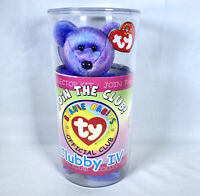 Ty Beanie Baby ~ CLUBBY IV Purple Bear from 2001 ~ RARE & RETIRED ~ PRISTINE