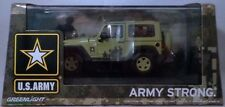 US ARMY GREEN 2012 JEEP WRANGLER GREENLIGHT 1:43 SCALE DIECAST METAL MODEL