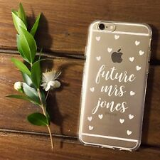 Personalised iPhone 7  phone case - future Mrs - engagement gift - bride to be