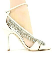 L.K. Bennett Dahlia Ivory Crystal Sandals  MADE IN SPAIN