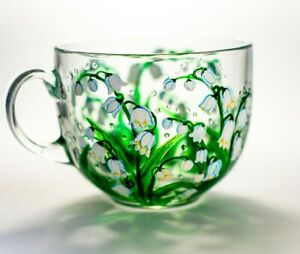 Mothers Day Gift Personalized Lily of the Valley Mug Flower Tea Cup Grandma Gift