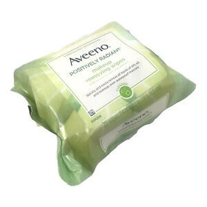 Aveeno Positively Radiant Oil-Free Makeup Removing Wipes, Moisturizer 25 Wipes
