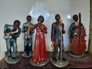 Black jazz band figurines by Herco Gifts