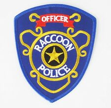 Raccoon police Officer Resident Evil embroidered badge Patch 9.5x11 cm