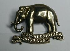 19th Alexandra Princess of Wales Own Hussars Cap Badge White Metal