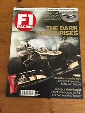 F1 Racing Magazine November 2012. Kimi Raikkonen Lotus