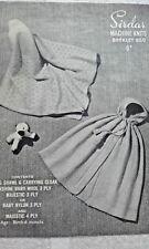 Vintage Sirdar Baby Châle & Manteau Tricot Motif 0-6 mois 3-4 plis 850