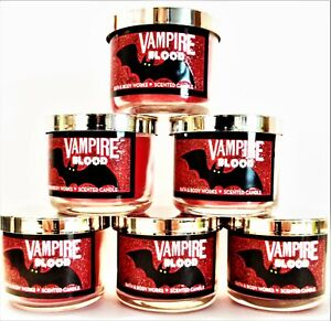 Bath Body Works VAMPIRE BLOOD Strawberry Plum Mini Candles,1.3 oz., NEW x 6