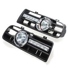 2 X LED Grill Pare-Chocs Anti Brouillard Phare pour 97-06 VW GOLF 4 MK4 IV WT