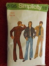 Simplicity 5195 Mens Jacket and Pants Size 44 - CUT
