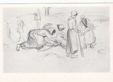 Théophile Steinlen reapers-women in the field Russian Soviet postcard
