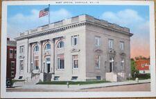 1940 Danville, KY Postcard: Post Office Building - Kentucky
