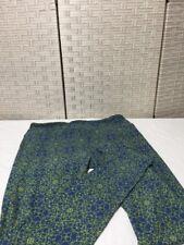 LulaRoe Tall & Curvy Tc Legging Blue Yellow Geometric Velvety Soft New
