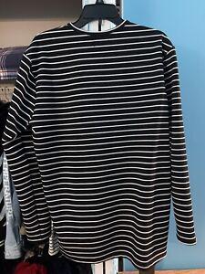 Richie Le Collection Black/White Striped L/S