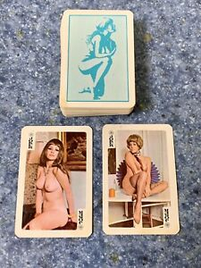 Vintage 1970s Miniature Playing Cards 54 Naked Women Nude Pictures Preowned