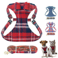 Adjustable Dog Harness Lead Cute Bowtie Soft Mesh Padded Vest for Pet Puppy Cat