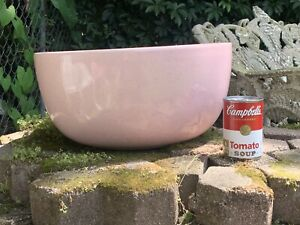 MONUMENTAL BAUER CALIFORNIA POTTERY PINK SPECKLED BOWL