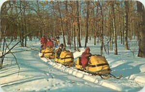 Dexter Winter Snowmobiling Michigan Recreation 1950s Penrod Postcard 21-1853