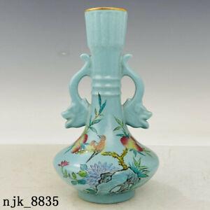 China  antique  Song dynasty  Ru porcelain  Description of gold  Add color  vase