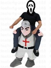 Cosplay Medieval Crusader Knight Mascot Costume Fancy Dress Shoulder Adults