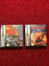 treasure planet and incredibles rise of the underminer gameboy advance gba new