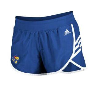 Kansas Jayhawks NCAA Adidas Women's Royal Blue 3-Strie Woven Shorts