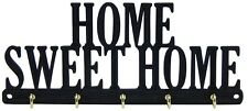 Home Sweet Home Key Rack Hanger Holder Entryway Organizer Hooks Decor Five Hooks