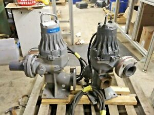 Flygt Submersible Water  Sewage Pump 3085.183-5071  4HP 208V 3415 RPM Lot of 2